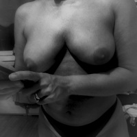 Texting nude in black and white